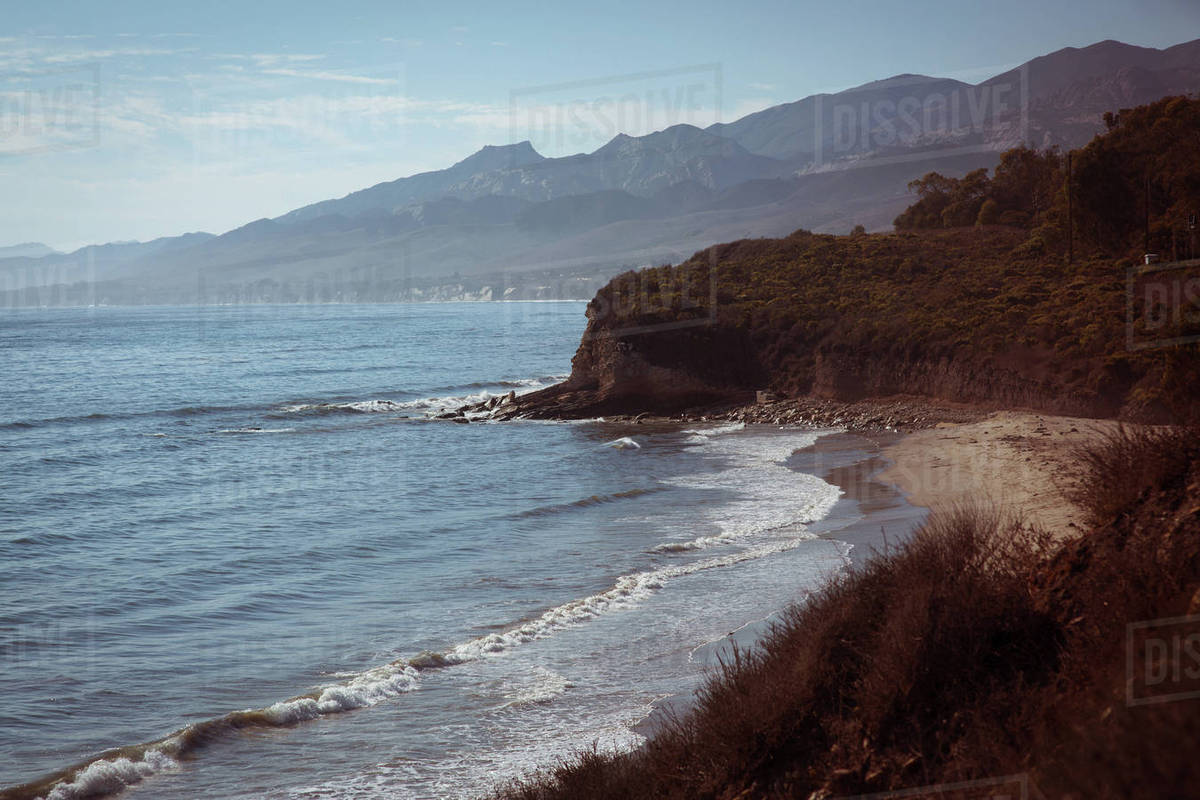 View of beach with coastline Royalty-free stock photo
