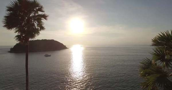 Sunset off the coast of Patong, Thailand  Royalty-free stock video