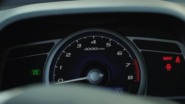 Dashboard lights Royalty-free stock video