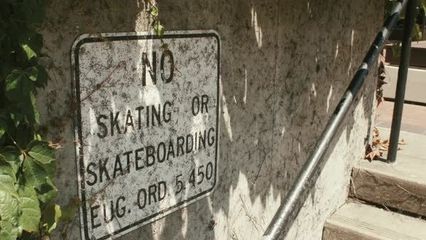 No skateboarding sign Royalty-free stock video