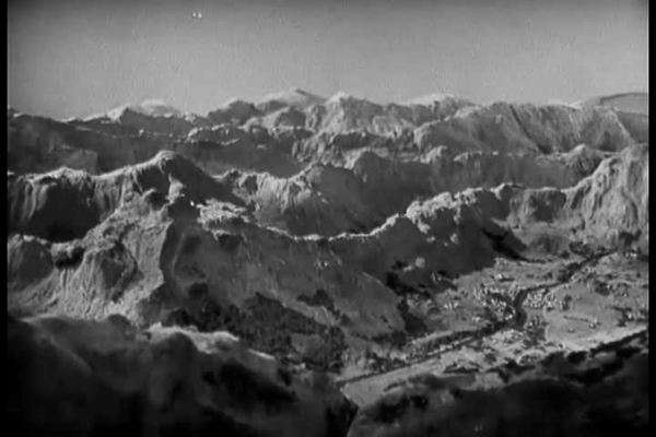 Footage of the Alps in Italy show the difficulties the army encountered in 1943. Royalty-free stock video