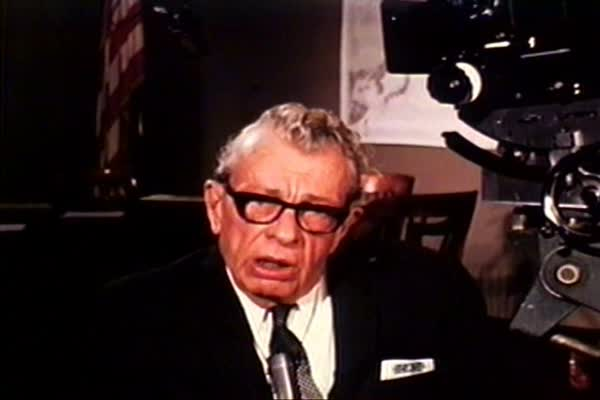 Senator Everett Dirksen thanks soldiers of the past and present for the legacy of freedom they have left America's children in 1968. Royalty-free stock video