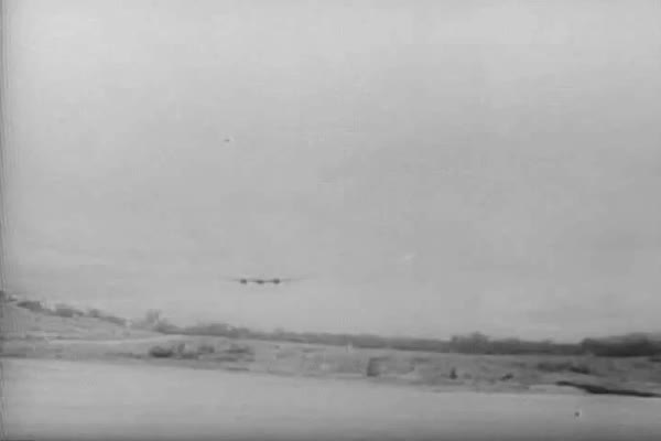 The Royal Australian Air Force heads out from New Guinea to bomb the Japanese during WWII. Royalty-free stock video