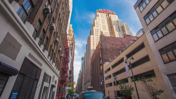 Timelapse of a busy street in New York in the daytime Royalty-free stock video