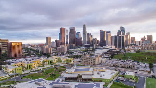 Drone shot of Downtown Los Angeles Royalty-free stock video