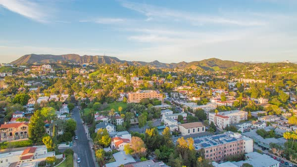 Drone shot of Hollywood Hills Royalty-free stock video