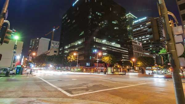 Downtown, Los Angeles, 2013. Hyperlapse. Timelapse in motion of buildings Royalty-free stock video