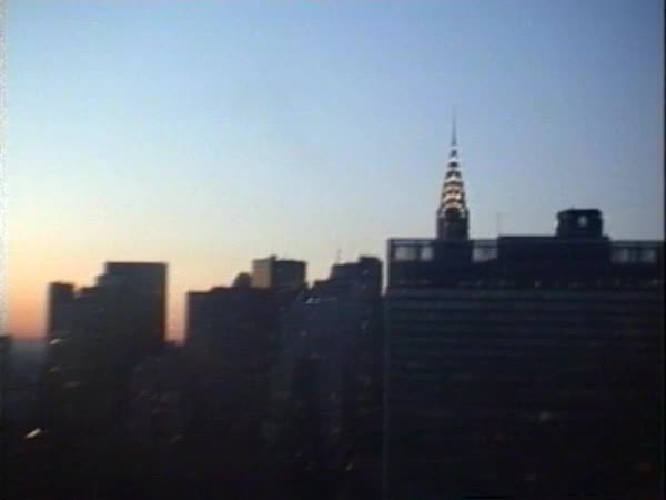 New York aerial footage, 1980 Royalty-free stock video