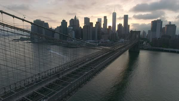Stationary shot of Brooklyn bridge  Royalty-free stock video