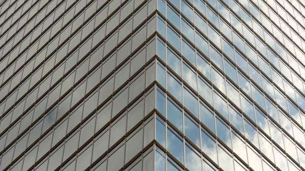 Timelapse of Clouds Reflection on Glass Building in Tokyo Japan Royalty-free stock video