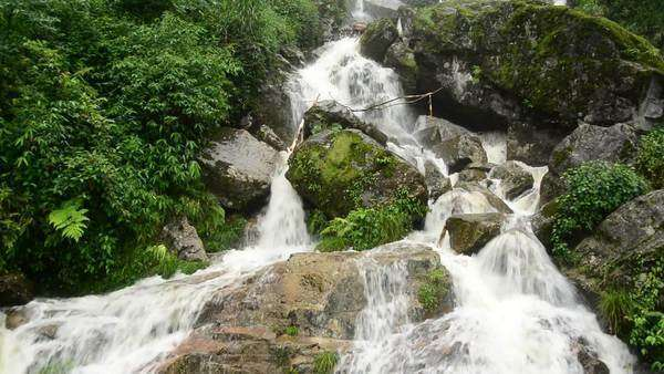Raging Waterfall during Rainstorm - Sapa Vietnam Royalty-free stock video