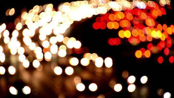 Blurred Evening Rush Hour Traffic in Los Angeles Royalty-free stock video