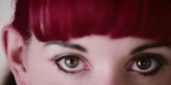 Handheld close up of a young woman's eyes Royalty-free stock video