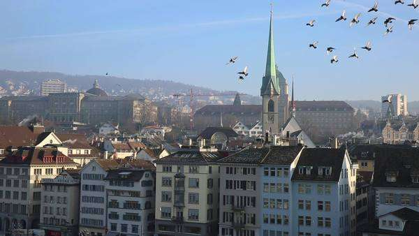Zurich in Switzerland, Europe Royalty-free stock video