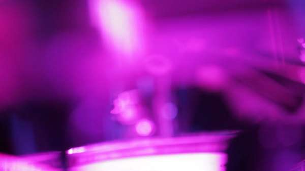 Abstract drummer hitting drums with defocused and fast lens motion Royalty-free stock video