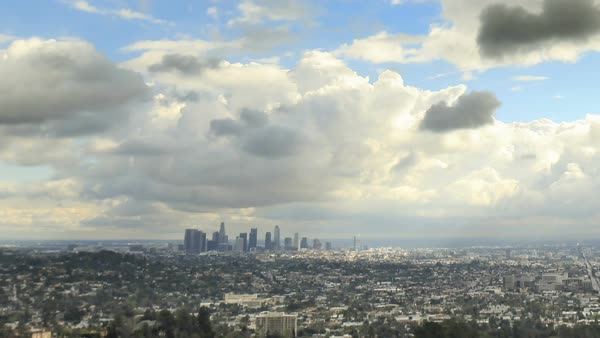 Los Angeles timelapse of rolling clouds Royalty-free stock video