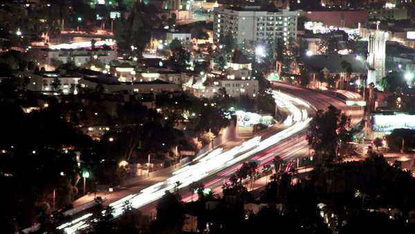 Hollywood Freeways Timelapse Royalty-free stock video
