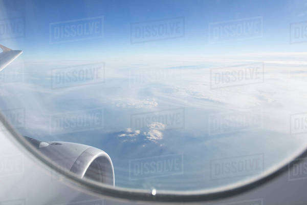 View from an airplane window Royalty-free stock photo
