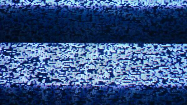 A TV with no signal, with some stripes over the image noise Royalty-free stock video