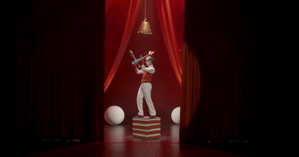 A group of circus artists performing on stage Royalty-free stock video