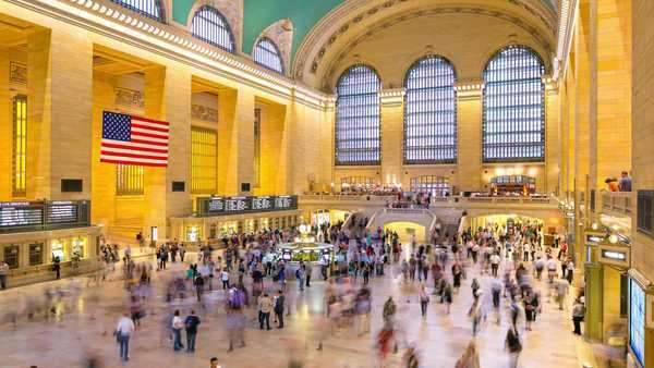 Day light grand central timelapse from New York City Royalty-free stock video