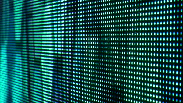 Screen of LED lights changing shapes and colors. Close up. Abstract.  Royalty-free stock video