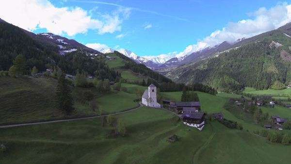 Aerial view of European countryside Royalty-free stock video