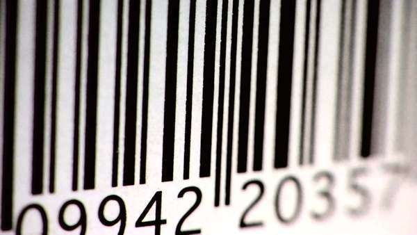 Scanning a bar code Royalty-free stock video