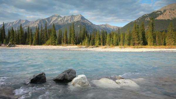 Canadian Rockies and Kootenay river, Kootenay National Park, with high quality audio included Royalty-free stock video