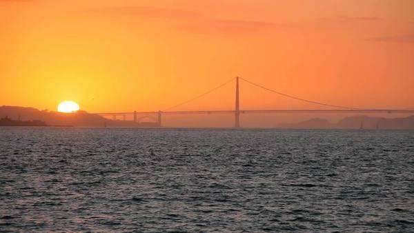 Golden Gate Bridge at Sunset Royalty-free stock video
