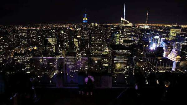 Top of the Rock Rockefeller Center, New York City, timelapse Royalty-free stock video