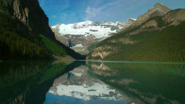 Reflection on Lake Louise, Banff National Park, Canada Royalty-free stock video