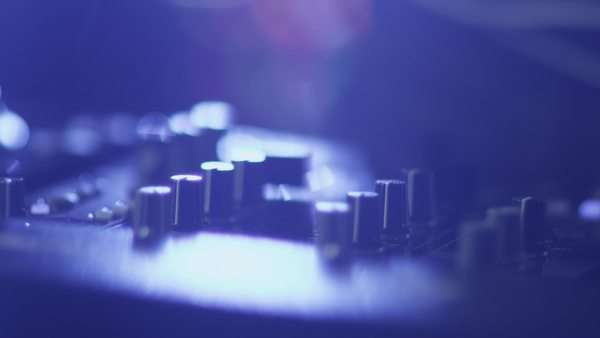 Dj console in nightclub Royalty-free stock video