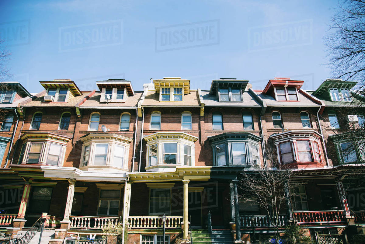 Façade of residential building Royalty-free stock photo
