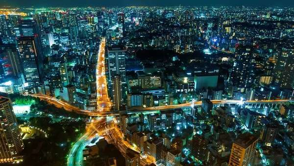 Tokyo Cityscape timelapse from Tokyo tower. Royalty-free stock video