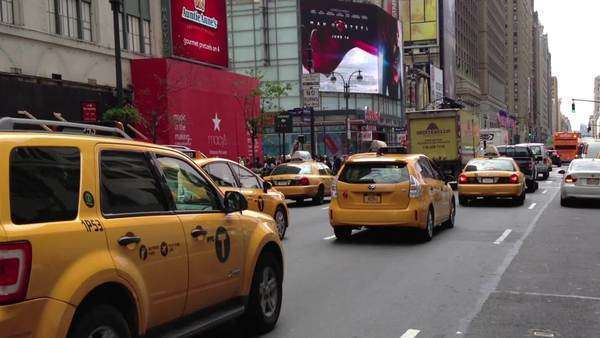 Taxis New York Royalty-free stock video