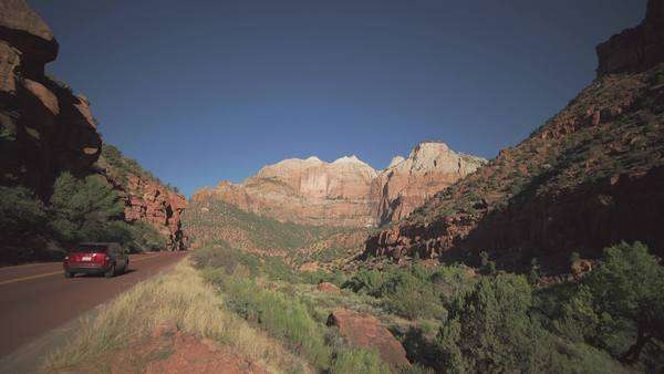 View of Zion National Park Royalty-free stock video
