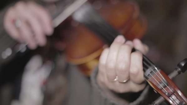 Close up on hands playing violin Royalty-free stock video
