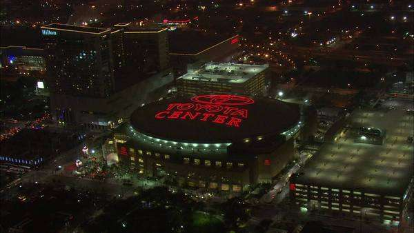 Toyota Center Houston At Night. An Aerial View Of Houston, Texasu0027 Premier  Events