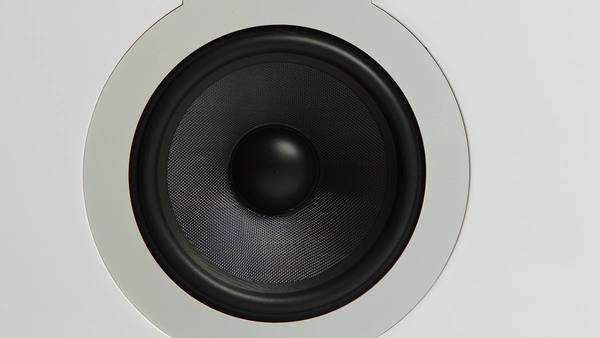 A speaker cone pumping to audio bass Royalty-free stock video