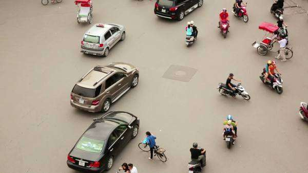 HANOI, VIETNAM - MAY 2014: crazy motorbike traffics timelapse Royalty-free stock video