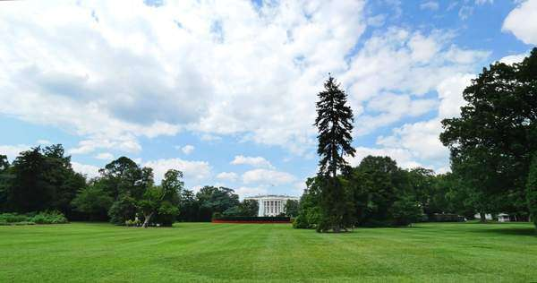 WASHINGTON, D.C. - July, 2015 - An extreme wide shot of the White House in Washington, D.C. Royalty-free stock video