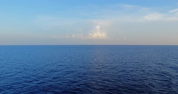 A peaceful view of the horizon over the open ocean Royalty-free stock video