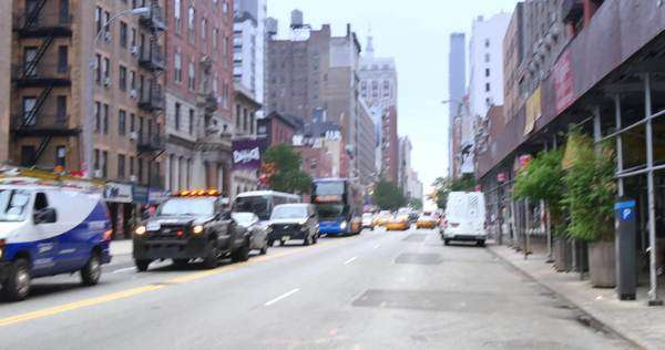 NEW YORK, NY - Circa July, 2014 - An establishing shot of the Chelsea Hotel in Manhattan. Royalty-free stock video