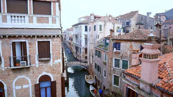 Amazing building and canal in Venice shot with drone Royalty-free stock video