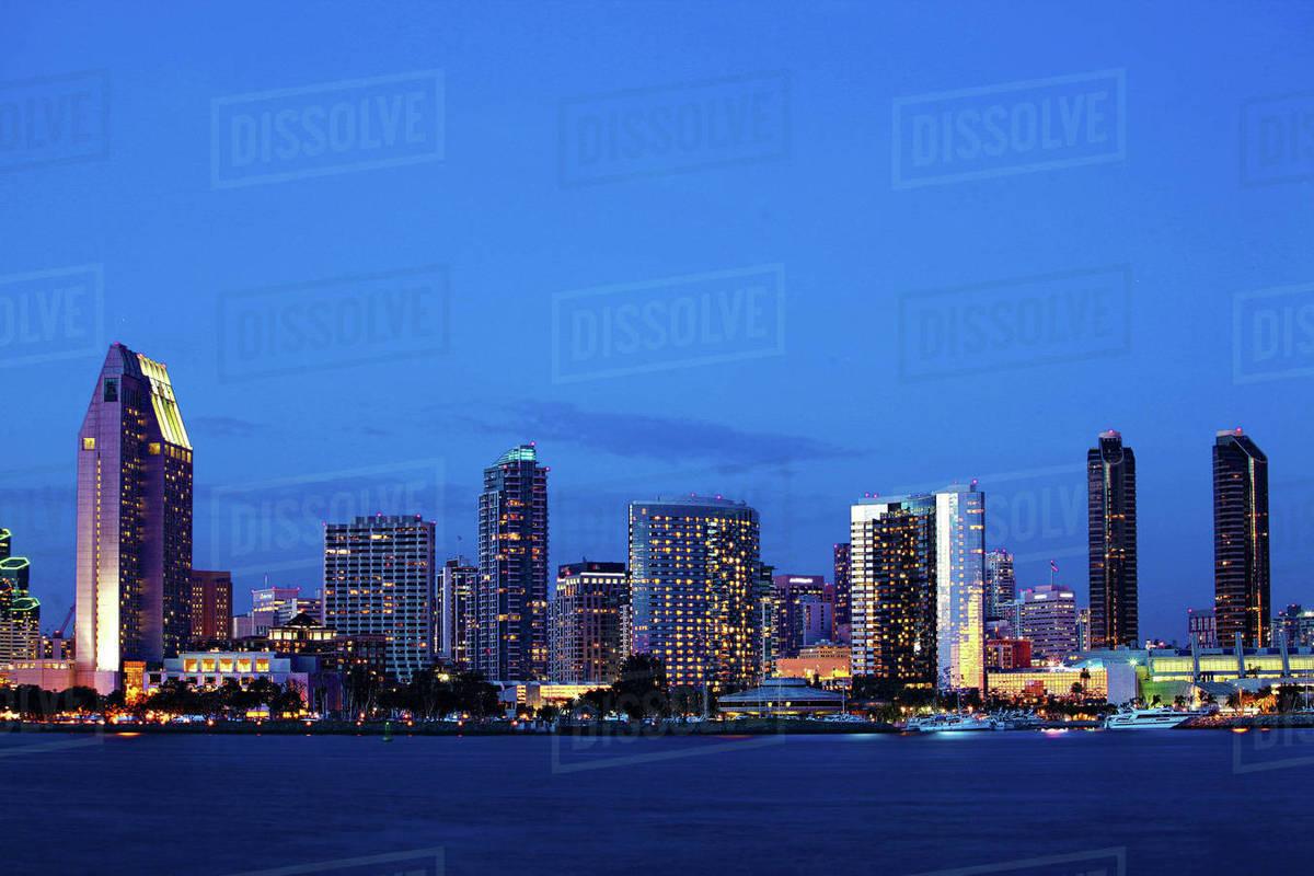 The San Diego Skyline At Night