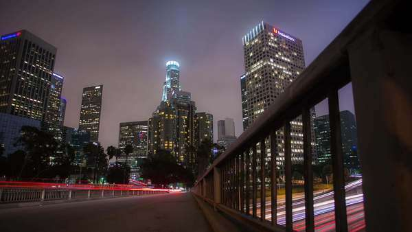 Timelapse dolly shot of Los Angeles Rights-managed stock video
