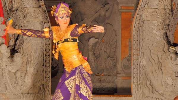 Ubud Bali Indonesia 15 08 2015 Two Balinese Dancers Dancing