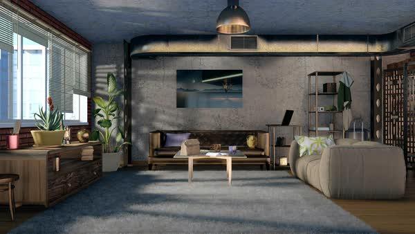 Modern Comfortable Living Room Interior Design With Brickwork