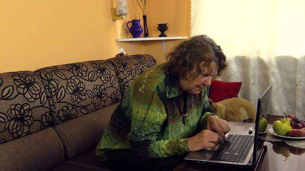 Amiable grandmother slowly pushing button on computer laptop learn preoccupied grandmother research computer buttons function at home old generation learn new technologies approach ccuart Gallery